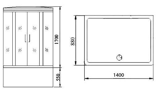 Размеры душевых кабин